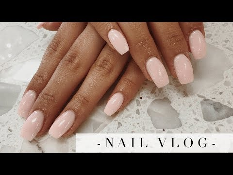 short light pink dip nails  nail and manicure trends