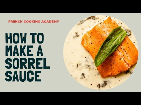 How To Make Sorrel Sauce Step By Step ( Served With Trout Filet)