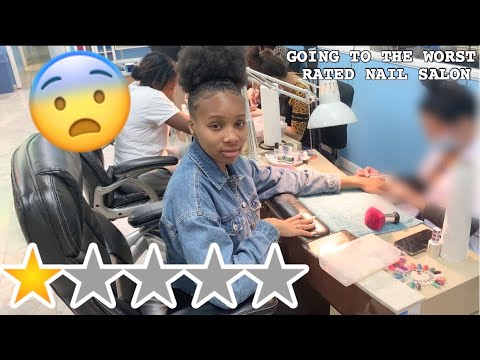 I WENT TO THE WORST REVIEWED NAIL SALON IN MY RATCHET CITY!! *1 STAR* (OMG)