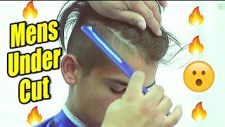 disconnected under cut comb over   scissor work   razor line up   tutorial   corte de pelo   kv7