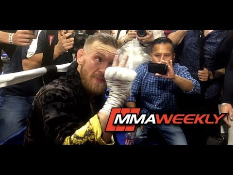 Conor McGregor Says Floyd Mayweather Only Lasts 2 Rounds: 'I See a Beaten Man'