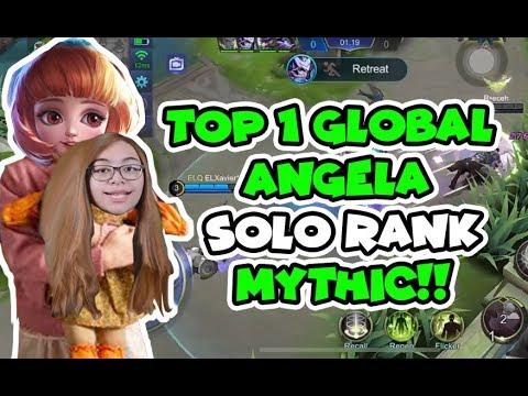 ANGELA LEGENDARY SOLO RANK WIN - Mobile Legends : Bang Bang thumbnail