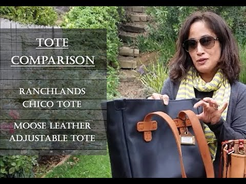 Leather Tote Comparison:  Ranchlands vs  Moose Leather