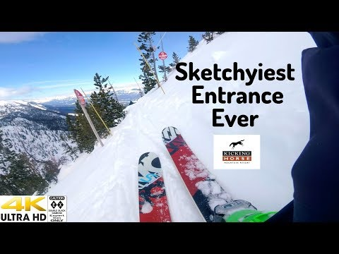 Sketchyiest Entrance at Kicking Horse Mtn?  Could Be!  To Consequence