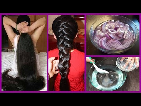 How to Grow Long Thicken Hair with Onion  - World's Best Remedy for Hair Growth