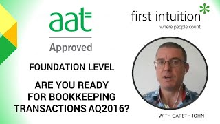 Are you ready for Bookkeeping Transactions AQ2016