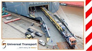 Universal Transport -  Wien-Bremerhaven-Brisbane - New Trams for Australia