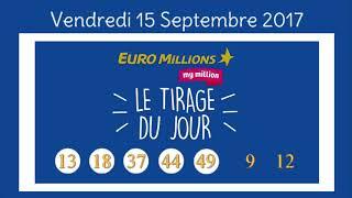 Résultat Euromillions du vendredi 15 septembre 2017