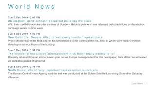 World News Headlines for 8 Dec 2019 - 6 PM Edition