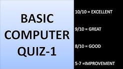 BASIC COMPUTER QUIZ - 1