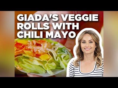 Giada's Veggie Rolls With Chili Mayo | Food Network