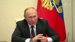 """Владимир Путин провел открытый урок в рамках всероссийского форума """"Проектория""""."""
