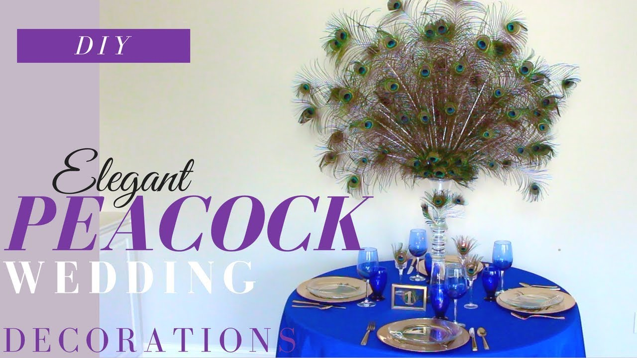 Diy Peacock Centerpiece Diy Elegant Wedding Reception Decorations