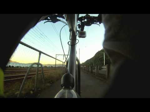 Petone to Wellington CBD - 12x Speed, Seat-post camera
