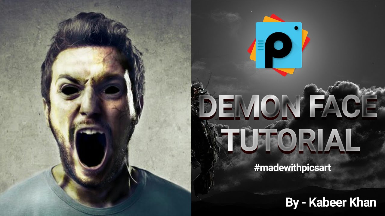 Picsart tutorial: how to make a scary demon face easily in.