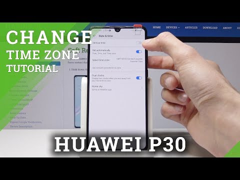 How To Change Date & Time In HUAWEI P30 - Time Zone Settings