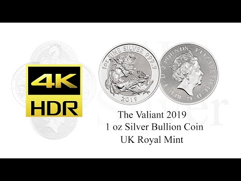 The Valiant 2019 1 oz Silver Coin - Royal Mint - St. George's Day 23rd April 2021 HDR