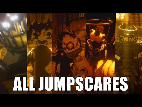ALL JUMPSCARES - Bendy and the Ink Machine (CHAPTERS 1-5)