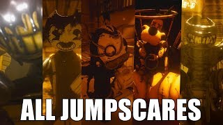 Download ALL JUMPSCARES - Bendy and the Ink Machine (CHAPTERS 1-5) Mp3 and Videos