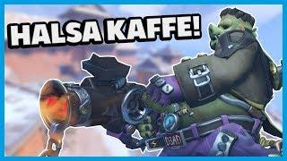 HALSA KAFFE - Roadhog Master Rank Overwatch på Svenska Gameplay