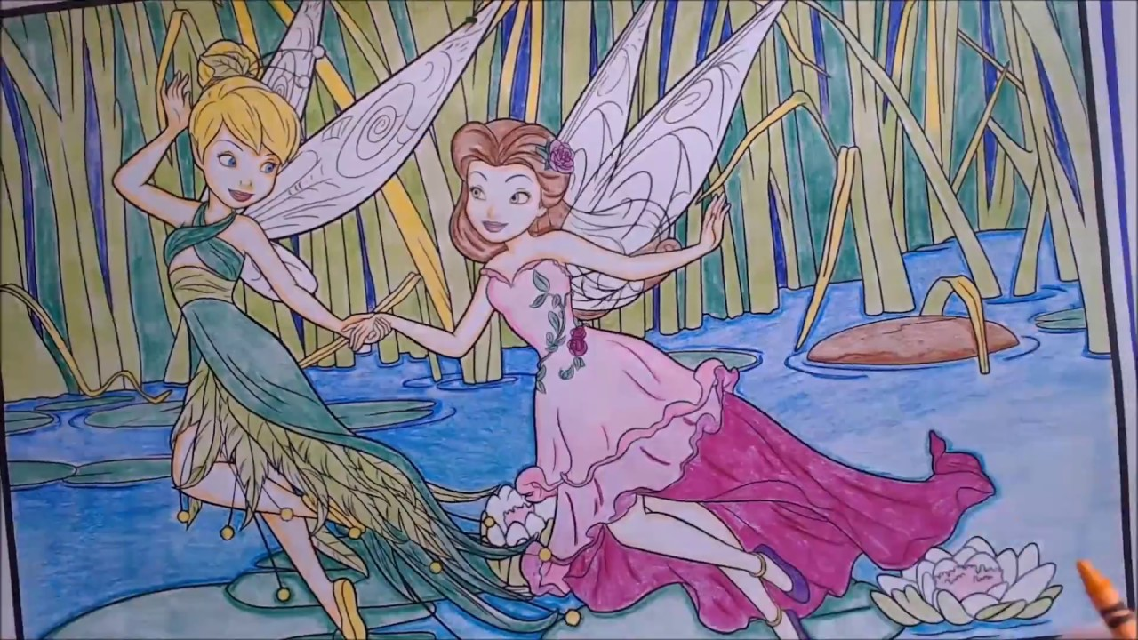 Coloring Pages Disney Tinkerbell : Crayola crayons and crayola disney giant colouring pages fairies