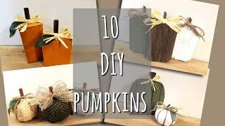 DOLLAR TREE DIY PUMPKINS & TWO BONUS PUMPKINS!!!