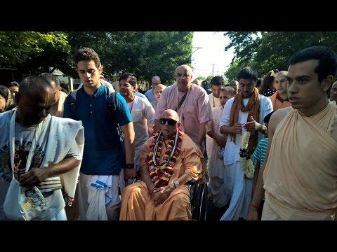 His Holiness Jayapataka Swami Maharaja Visits Dallas ISKCON