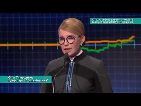 Телеканал АНТЕНА: Виступ Юлії Тимошенко у програмі