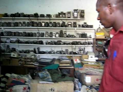 Malick Sidibe's studio