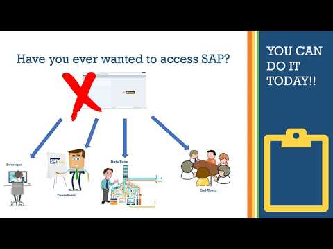 How to get SAP IDES free - 1  Intro SAP Access - YouTube