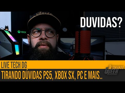 Live Tech DG – Tirando Duvidas dos Incritos ao Vivo, PS5, Xbox Series S, PC e mais