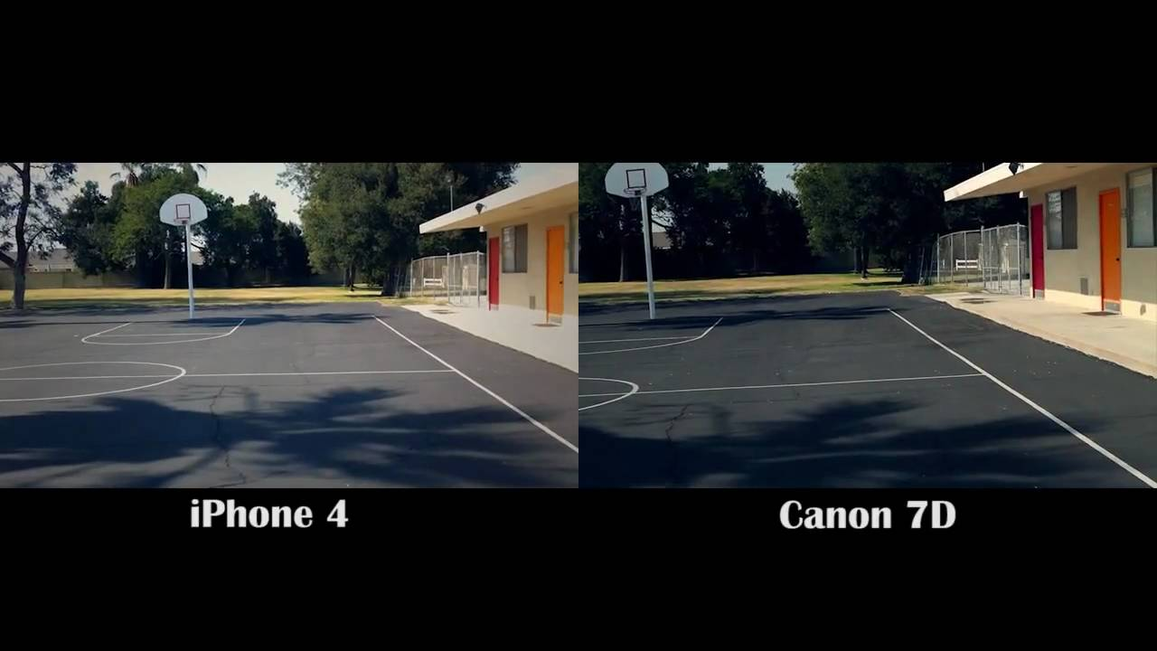 Default Iphone 7 Wallpaper Canon Eos 7d Vs Iphone 4 Youtube