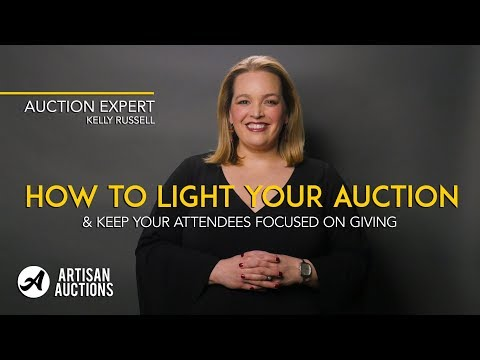 Lighting For Fundraising Events | Artisan Auctions with Kelly Russell