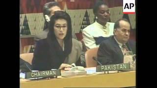 USA: NEW YORK: PAKISTAN' S PM CALLS RECENT KASHMIR ELECTIONS A