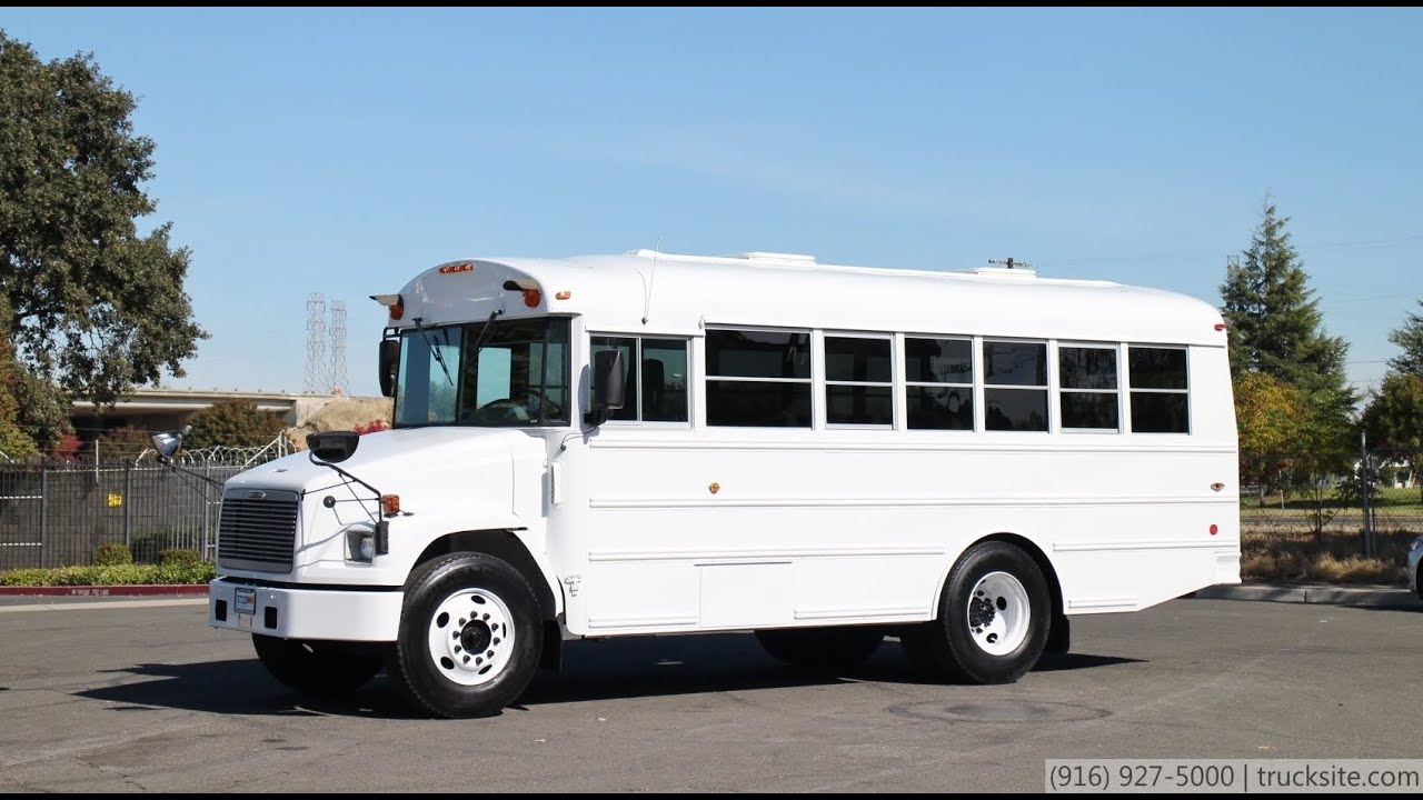 2002 freightliner fl60 thomas built 25 passenger bus for sale by truck site youtube