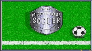 Microprose Soccer gameplay (PC Game, 1988)
