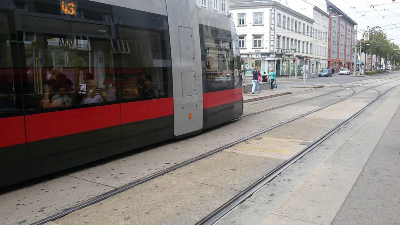 Straßenbahn Linie 43 Rosensteingasse In Wien3 Youtube