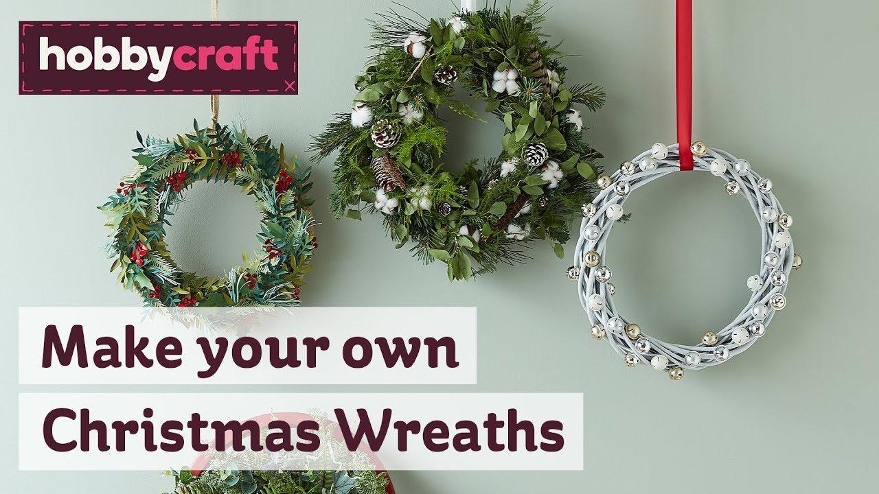 Christmas Door Wreaths | Christmas Home Decor | Hobbycraft
