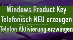 Windows telefonisch aktivieren | Product Key generieren Windows 7, 8, 8.1 und 10 | TheAskarum