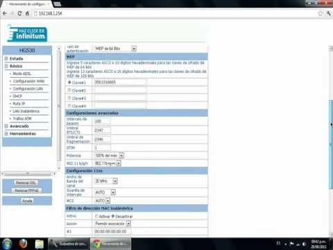Abrir puertos o nat modem Telmex Hg530 - YouTube