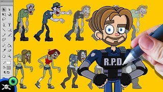 See James Draw - Jack Septiceye Animated | Resident Evil 2 thumbnail