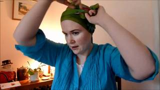Wigs and Head Covers Tying a Rectangular Scarf.wmv