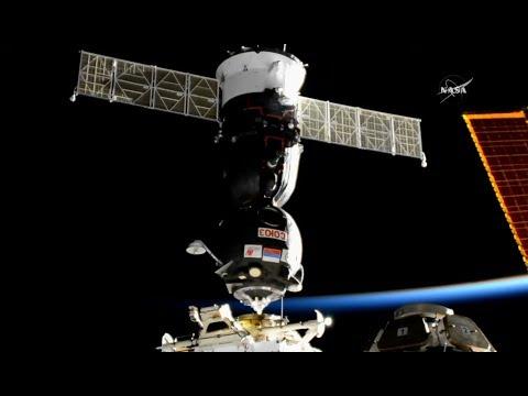 Soyuz MS-05 Docking & Crew Welcome Ceremony