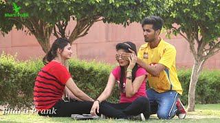 Secret Boy Friend Prank On Cute Girls With twist   Prank In India   Bharti Prank