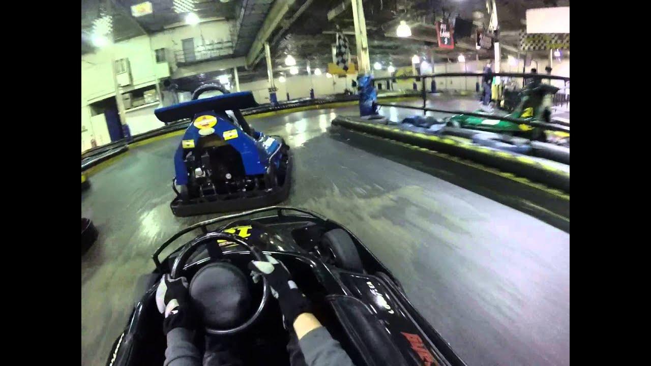 401 mini indy go-karts new years day JR karts 1/2 - YouTube