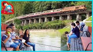 น้องบีม | กินไอติมห้อยขาชมรถไฟ เที่ยวกาญจนบุรี สวนไทรโยครีสอร์ท