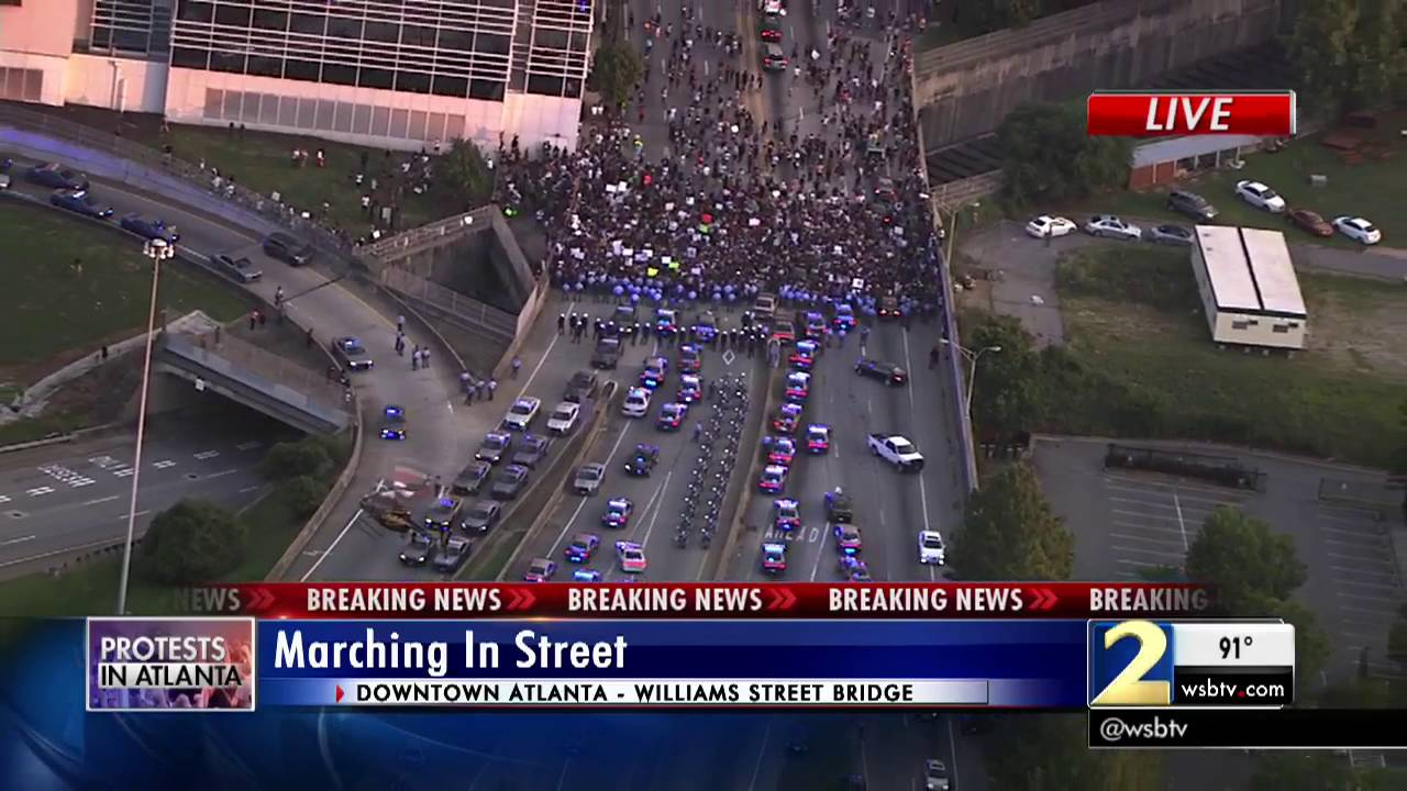 Troopers block protesters from entering Atlanta interstate