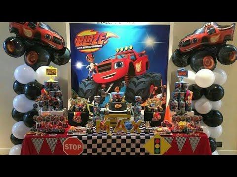 Fiesta De Blaze And The Monster Machines Party Birthday Decoraciones