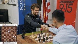 WOW - WHAT A GAME!!! Magnus Carlsen Vs Ding Liren    Blitz Chess 2019