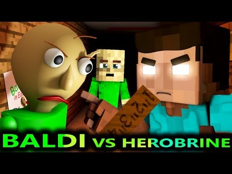 BALDI'S BASICS VS HEROBRINE CHALLENGE! (Official) Baldi Minecraft Animation Horror Game